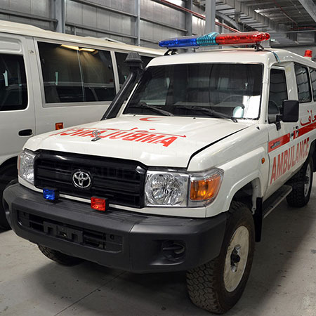Armored Toyota LC 78 Ambulance