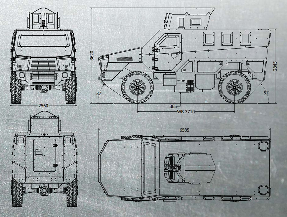 The Legion MRAP with turret.