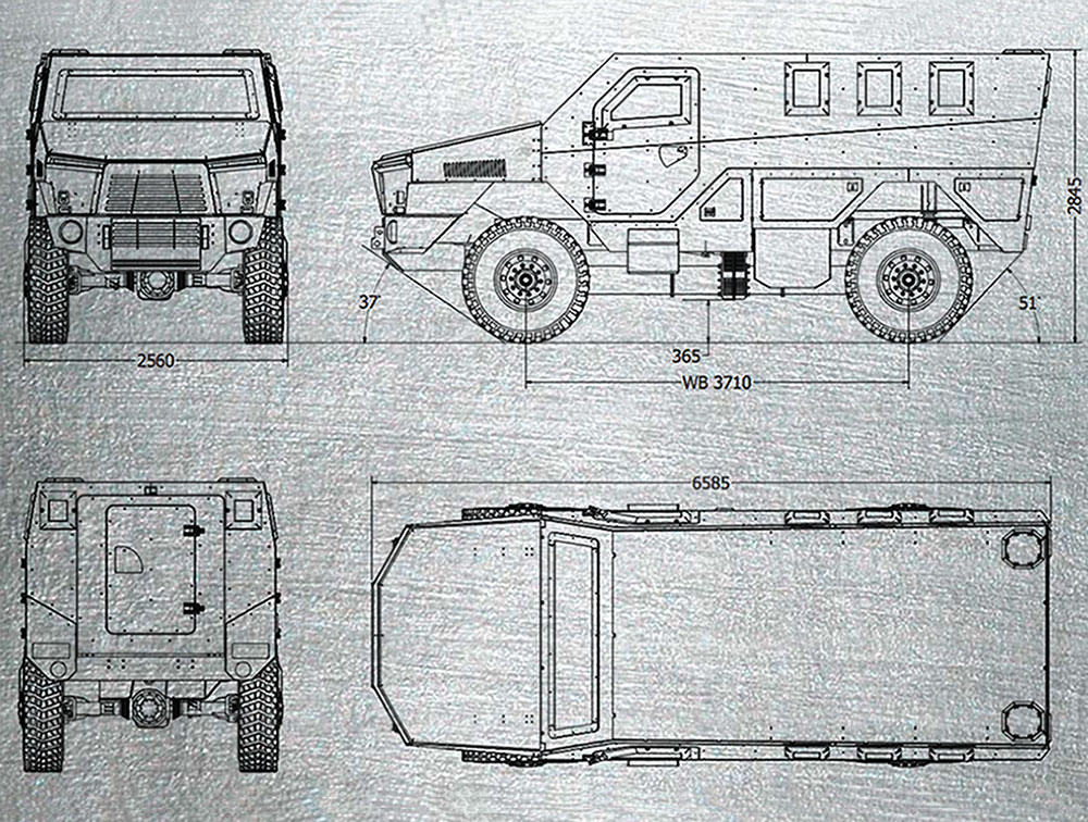 The LegionMRAP - AMBULANCE VARIANT.